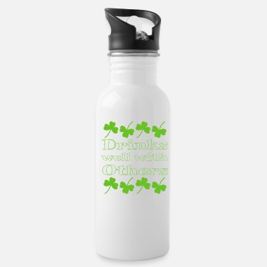 St Patricks Day St. Patrick's Day Drinks Well With Others Shamrock - Water Bottle