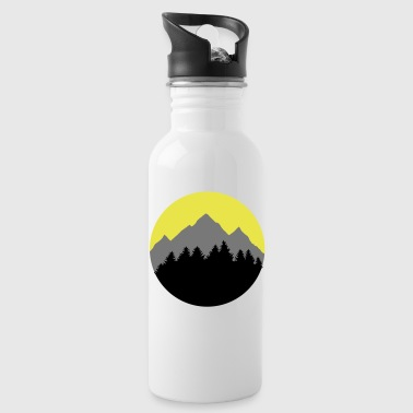 Forest, Mountains, Sunrise/Sunset - Drinkfles
