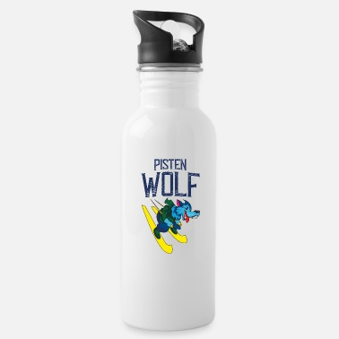 Slope Skiing on slopes - Water Bottle