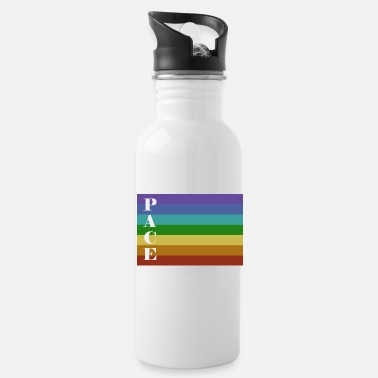 Pace Pace Flag with Pace Text Vertical - Water Bottle