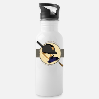 Saddle horsetshirt equestrian my passion - Water Bottle