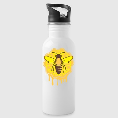 a bee and honeycomb - Water Bottle
