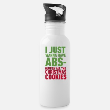 Funny Christmas cookie gym workout gift funny - Water Bottle