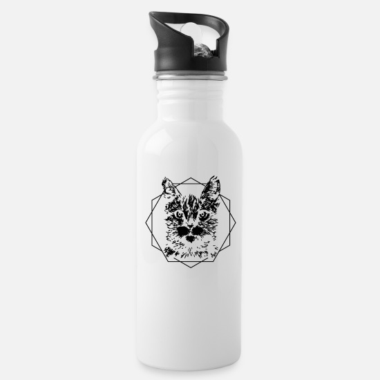 Gift Idea Mugs & Drinkware - Cat pointy ears - Water Bottle white