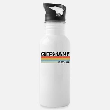 Germany & German Retro Vintage Stripes Graphic - Water Bottle