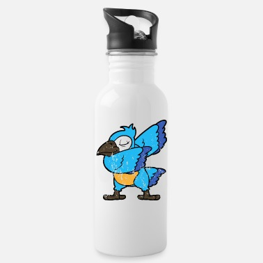 Disco Retro Vintage Grunge Style Dabbing Dab Parrot - Cantimplora