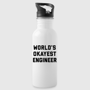 World's Okayest Engineer Funny Quote - Vattenflaska