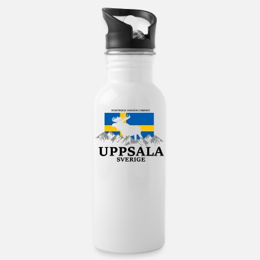 Reminder Wikstroem Sweden flag moose mountains Uppsala - Water Bottle