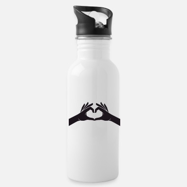 Hand Sign Hands heart love symbol sign hand sign - Water Bottle