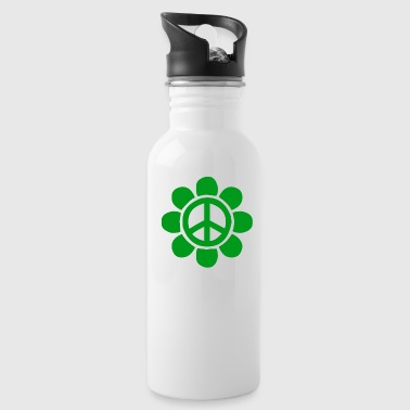 Green peace flower for peace - Water Bottle