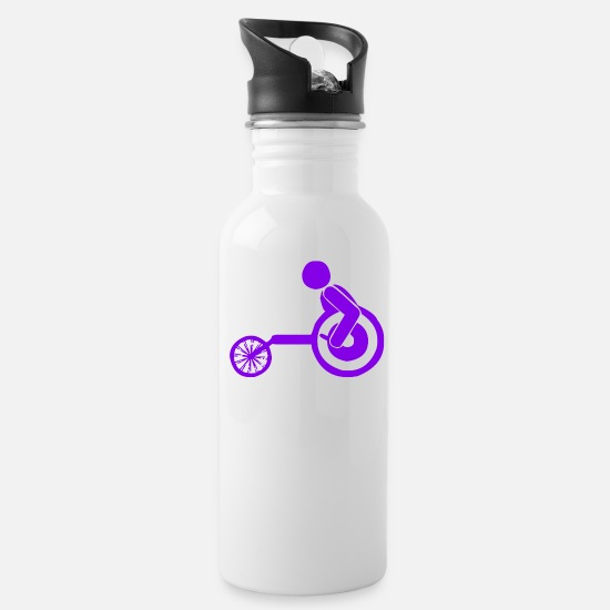 Gift Idea Mugs & Drinkware - A competition in cycling - Water Bottle white