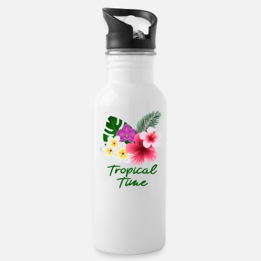 Tropical Flowers Tropical flowers and flowers - Water Bottle