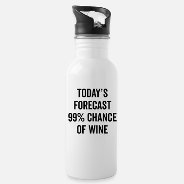 Funny Chance Of Wine Funny Quote - Water Bottle