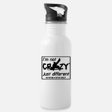 Hockey I'm Not Crazy Just Different - Water Bottle
