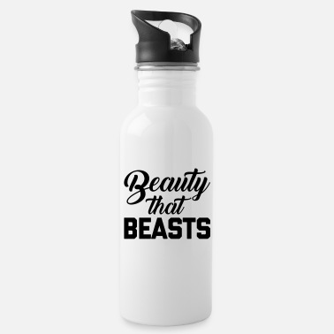Lift Beauty That Beasts Gym Quote - Drikkeflaske