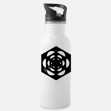 dice in the cube plain black - Water Bottle