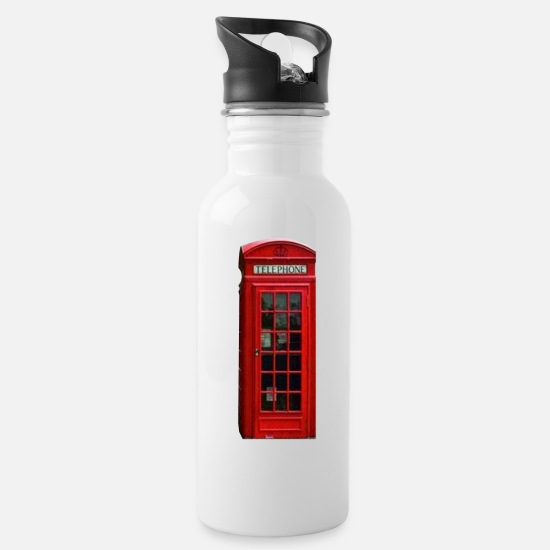 Phone Mugs & Drinkware - London telephone booth - Water Bottle white