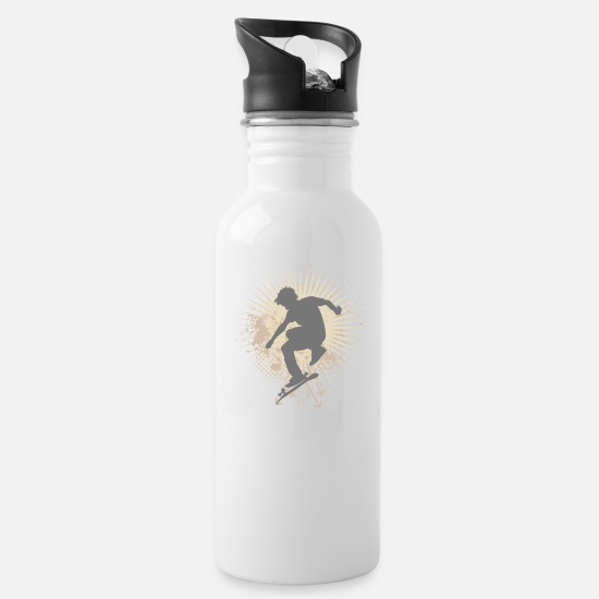 Skateboard Mugs & Drinkware - Skateboarder - Water Bottle white