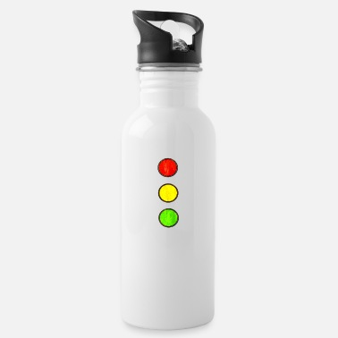 Driving School Traffic light driving school car driving vintage - Water Bottle