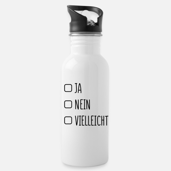No Mugs & Drinkware - Yes No - Water Bottle white