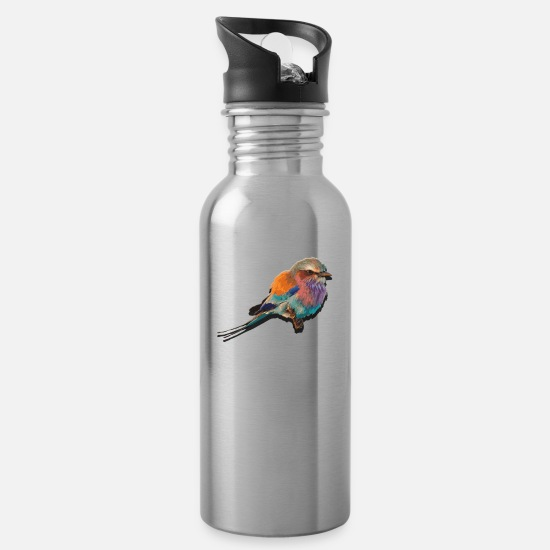 Beautiful Mugs & Drinkware - colorful bird - Water Bottle silver