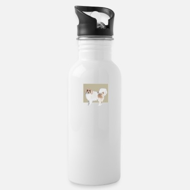 Dog Cute Dog Dogs Doggy Puppy Photography Painting - Water Bottle