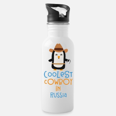 Outdoor Coolest Cowboy Penguin in Russia Gift - Water Bottle