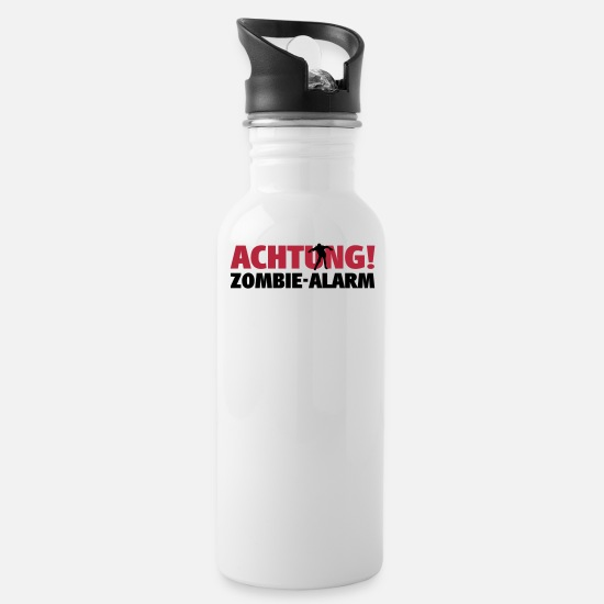 Horror Mugs & Drinkware - zombie alarm - Water Bottle white