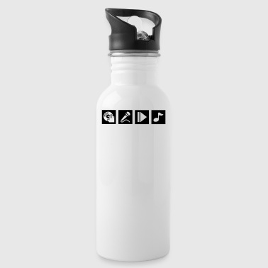 DJ, sing, play, music - Water Bottle