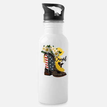 Texas Cow Girl Up - Water Bottle