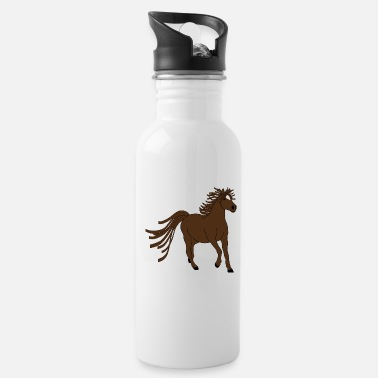 Horse Fan Dark brown horse - great motive for horse fans - Water Bottle