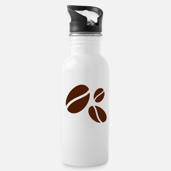 Caffeine Mugs & Drinkware - Coffee bean - Water Bottle white