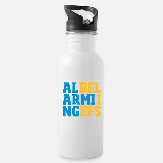 Think Mugs & Drinkware - alarming beliefs - Water Bottle white