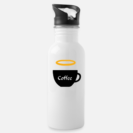 Gift Idea Mugs & Drinkware - Cup with halo coffee tea break drink - Water Bottle white