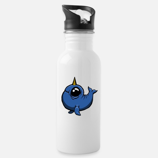 Gift Idea Mugs & Drinkware - Whale unicorn sweet - Water Bottle white