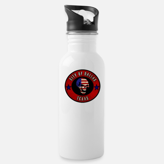 Gift Idea Mugs & Drinkware - City of Dallas Texas / Gift / Gift Idea - Water Bottle white