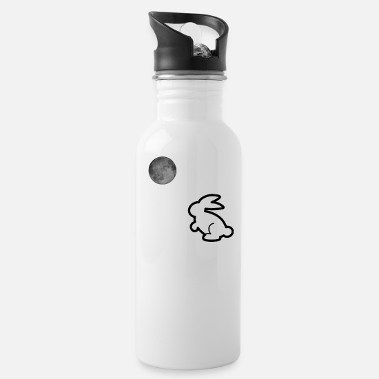 Easter Mugs & Drinkware - bunny in the moonlight - Water Bottle white