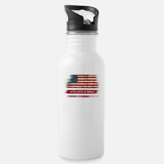 Special Forces Mugs & Drinkware - USA vintage flags design / gift - Water Bottle white