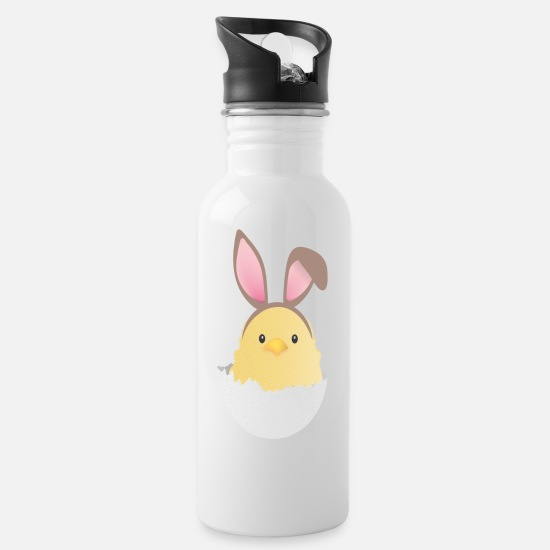Easter Mugs & Drinkware - Chick with ears - Water Bottle white