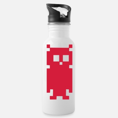 Forêt Owl hibou pixel - Water Bottle