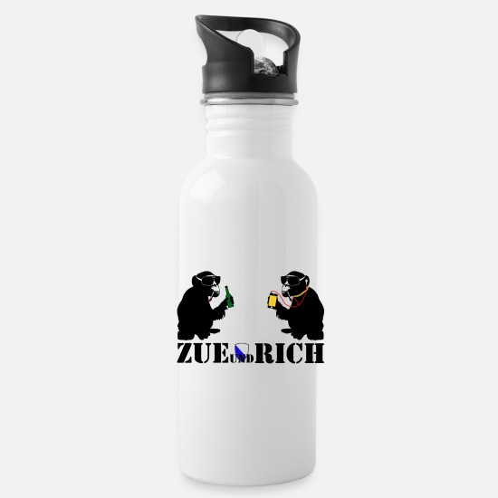 Alcohol Mugs & Drinkware - zue and rich - Water Bottle white