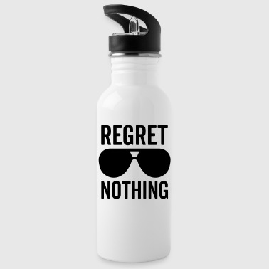 Regret Nothing Quote - Water Bottle