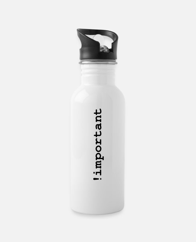 Css Mugs & Drinkware - CSS Important Declaration - Water Bottle white