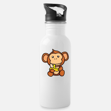 Lunch Break Monkey makes lunch break - design - Water Bottle