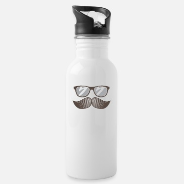 Mustasch Beard with glasses - Water Bottle