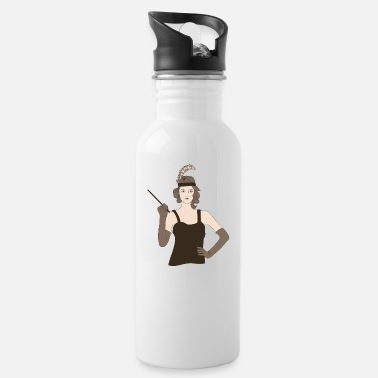 1920s 1920 1920s vintage retro gift Charleston 20s - Water Bottle