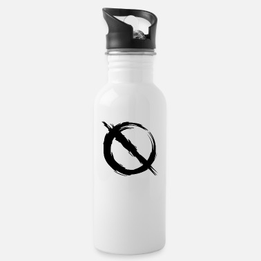 Prohibited Prohibition prohibited mirror inverted - Water Bottle