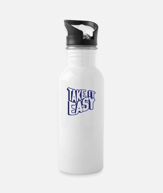 Take Easy Mugs & Drinkware - Take it easy - Water Bottle white