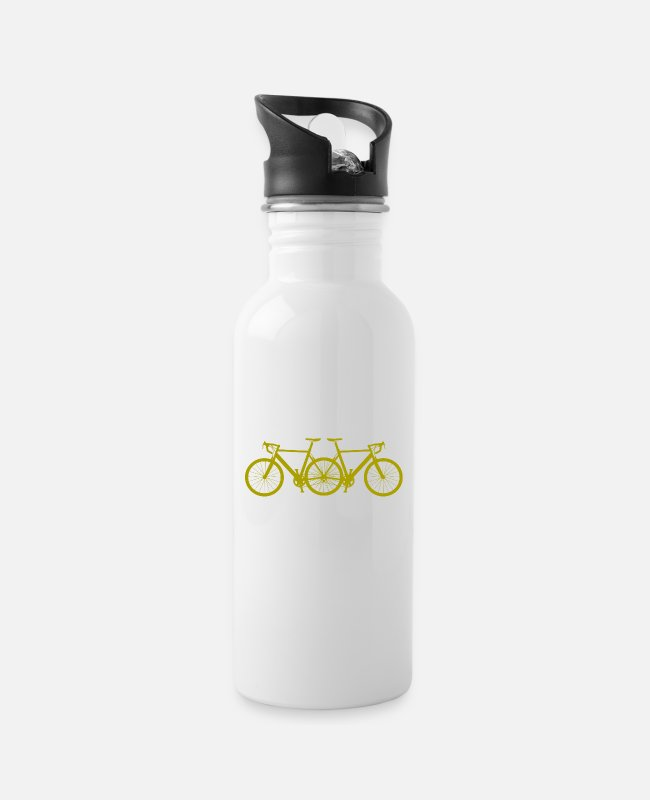 Road Bike Mugs & Drinkware - bicycle - Water Bottle white