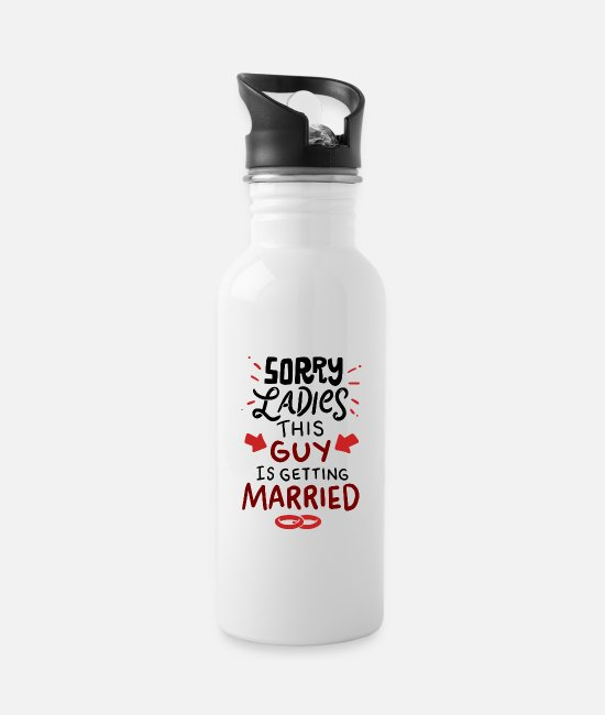 Engagement Mugs & Drinkware - Engaged Married Forgive Geek Gift Funny - Water Bottle white